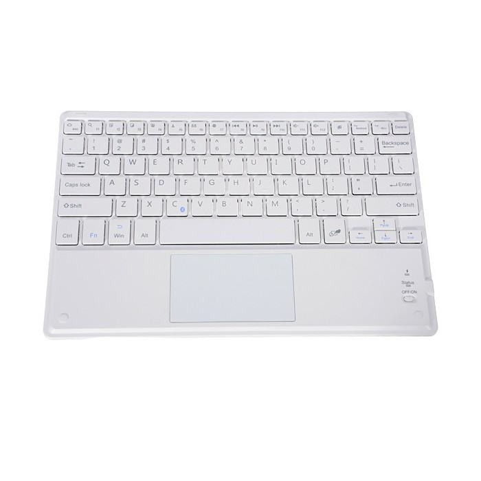 - 1B.O.W HB092C Bluetooth Wireless Touch Keyboard B.O.W HB092C Universal Bluetooth Wireless Touch Keyboard For Tablet Cell Phone white Tablet Accessories Tablet Keyboards /& Mouses -