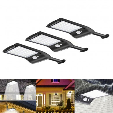 3 pz solare Powered 36 LED PIR Sensore di movimento Impermeabile Street Security Light Wall lampada per Outdoor Garden