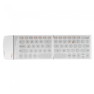 Pocketwekey Wireless Bluetooth Thin English Keyboard White