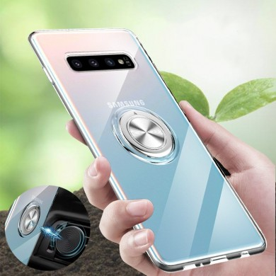 Bakeey Clear Ring Grip Stand Magnetic Adsorption Protective Case For Samsung Galaxy S10