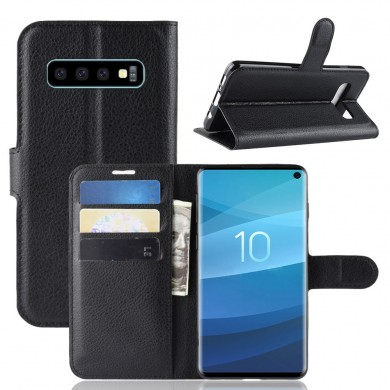 PU Leather Wallet Kickstand Flip Protective Case For Samsung Galaxy S10 6.1 Inch