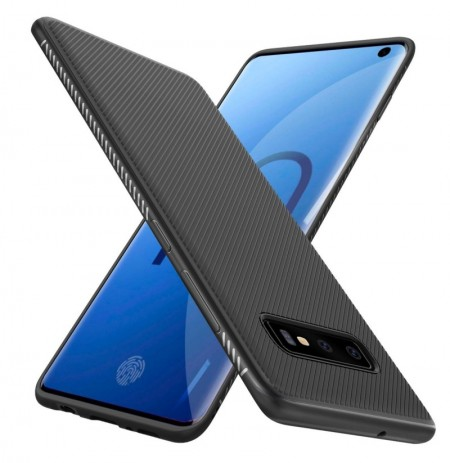 Bakeey Carbon Fiber Protective Case For Samsung Galaxy S10 Shockproof Soft TPU Back Cover