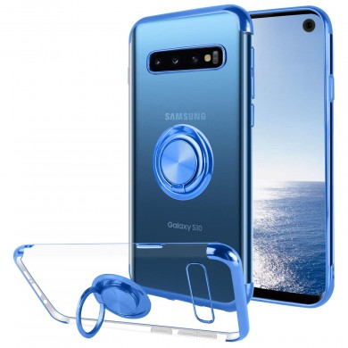 Bakeey Protective Case For Samsung Galaxy S10 Plating Ring Grip Kickstand Car Magnetic Back Cover