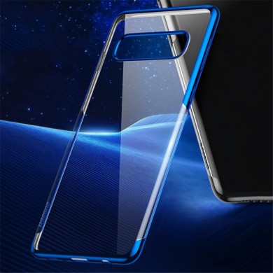 Baseus Plating Transparent Antichoc Soft TPU Housse de protection pour Samsung Galaxy S10