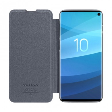 NILLKIN Frosted Scratchproof Flip Cover PU Leather Protective Case For Samsung Galaxy S10