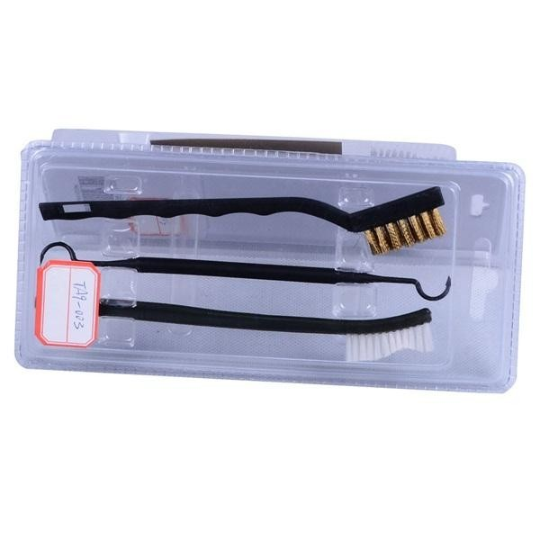 AURKTECH Hunting Gun Double Heads Cleaning Brushes Hook Set Barrel Cleaner Tools Kit