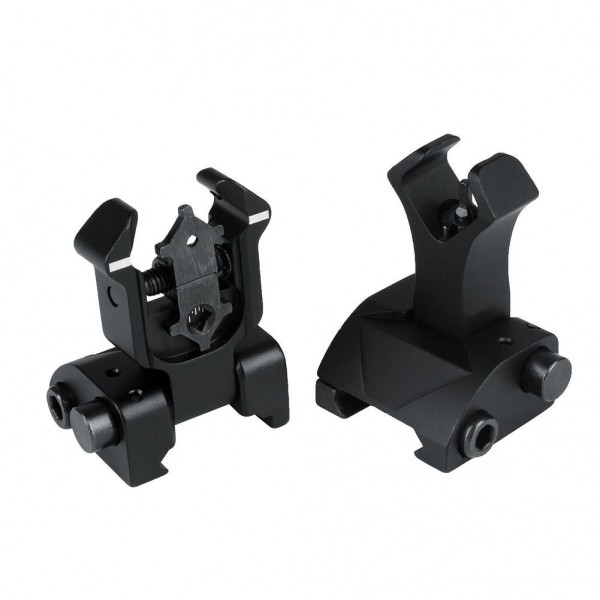 AURKTECH 20MM Hunting Tactical Aluminum alloy Front and Rear Folding Battle Metal sight