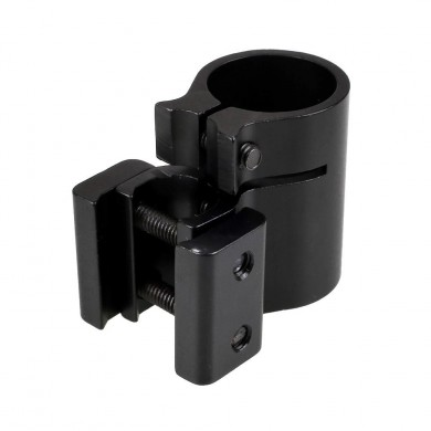 AURKTECH 25.4mm Flashlight Ring 20mm Base Clip Scope Rail Mount Holder Hunting Accessory