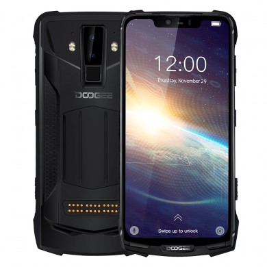 DOOGEE S90 Pro Global Bands IP68 Waterproof 6.18 inch FHD+ NFC Android 9.0 5050mAh 16MP AI Dual Rear Cameras 6GB RAM 128GB ROM H