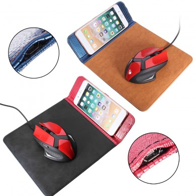 Qi Mouse pad di ricarica wireless per iPhone X/8/8 Plus Samsung Galaxy S9/S9 Plus/Note 8/S8/S8 Plus
