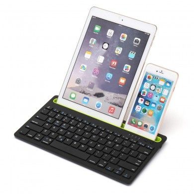 Tastiera wireless Bluetooth 3.0 Stand Holder per iPhone / iPad / Macbook / Samsung / iOS / Android / Windows