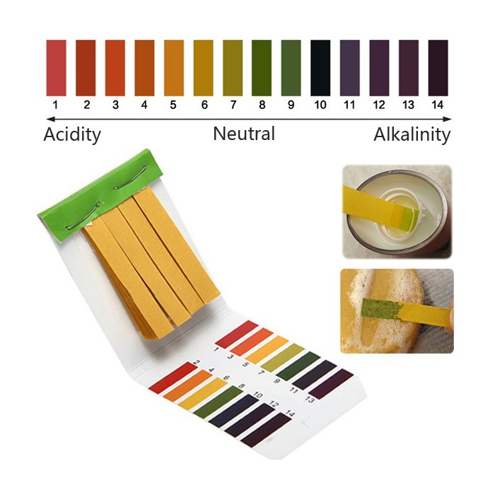 1-14 PH Alkaline Acid Test Papier Wasser Lackmus-Test Kit