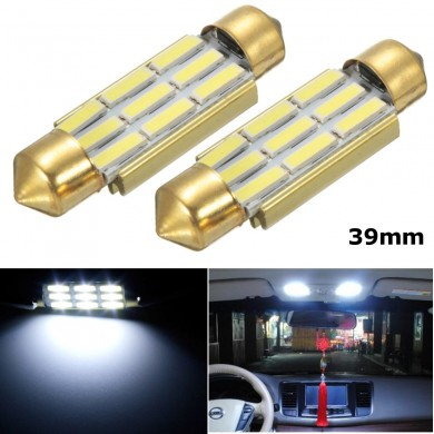 39MM White 9 SMD Number Plate Interior LED Reading Light Festoon Bulbs Error Free