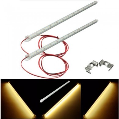 Pair Warm White LED Strip Light Bar 5630 SMD Interior Lamp For Car Van Caravan Boat LWB Fish Tank