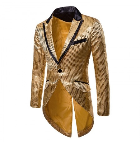 Mens paillettes conception smoking costume robe mariage étape blazers