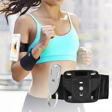 Multifunctional Magnetic Arm Belt Phone Holder Sports Armband Case with Finger Ring Holder