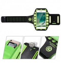 FLOVEME 5.5 pulgadas LED Flash Running Adjustable Impermeable Brazo de pantalla táctil Bolsa Brazalete para iPhone
