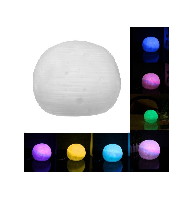 3D Moon Luna Night Light LED Desk Lamp Color Changing Decor With Remote Control фото