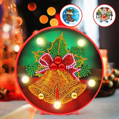 Árvore de Natal LED Night Light DIY Diamond Home Bedroom Colorful Lâmpada decorativa