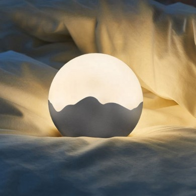 LED Moon Night Light USB Rechargeable Tap Control Dimming Table Bedside Lamp DC5V