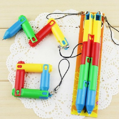 Foldable Ballpoint Pen Collapsible Ball Pen Bending Deformation Pen