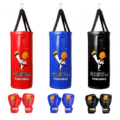 Boxeo Bolsa Saco de arena para niños Guantes Set Home Sports Junior Trainning Punching