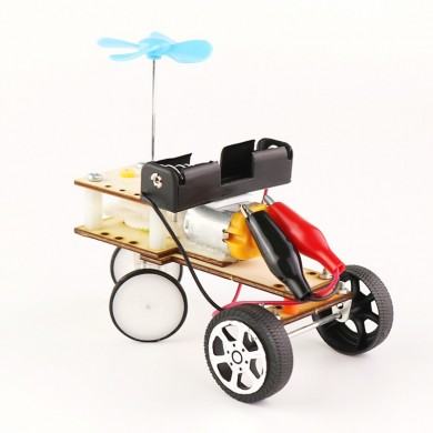 DIY Educational Mechanical Obstacle Avoidance Car Scientific Invention Toys