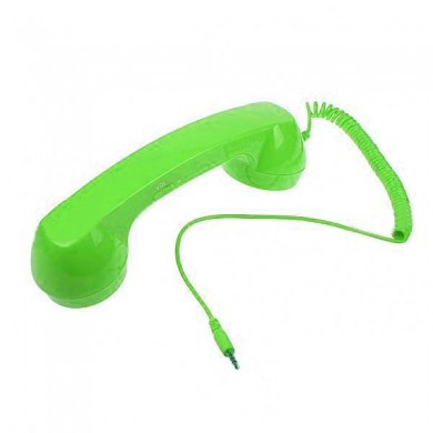 Green Telephone Style Headset Microphone Volume Control For iPhone