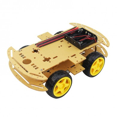 DIY 4WD Smart Robot Car Chassis Kits with Speed Encoder