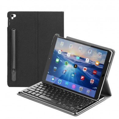 "Smart Backlit Keyboard With Intelligent Connector For iPad Pro 10.5"" Protective Case"