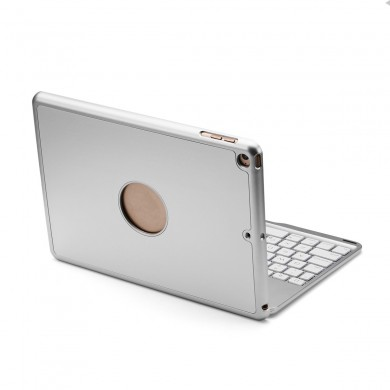 "7 Colors Backlit Aluminum Alloy Wireless bluetooth Auto Sleep Keyboard Case For iPad 9.7"" 2018/iPad 9.7"" 2017"