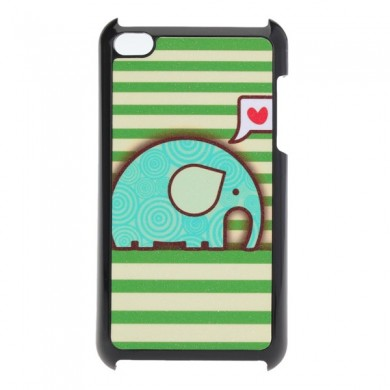 Lovely Cute Cartoon Elephant Pattern Back Case For iPod Touch 4 4G