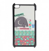 Colorful Cute Cartoon Elephant Pattern Case For iPod Touch 4