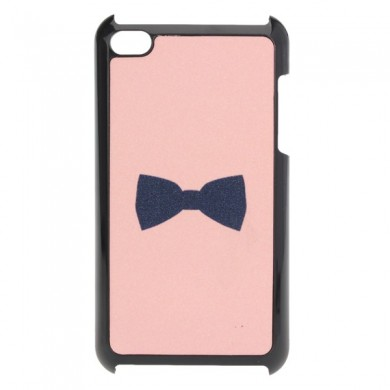 Pink Cute Frosted Bow Back Plastic Case Cover Skin For iPod Touch 4