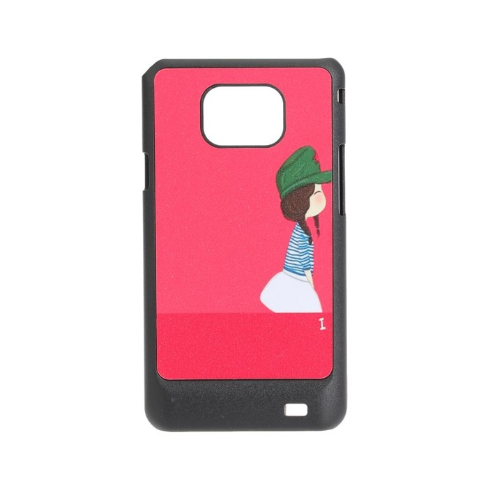 Red Lovely Girl Pattern Hard Back Plastic Cover Case For iPod Touch 4
