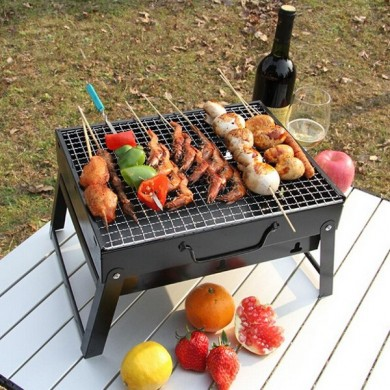 Outdoors BBQ Portable Charcoal Grill Household Folding Rack Grill
