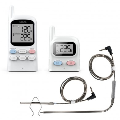 Digital Wireless Remote Dual 2 Probe Meat Thermometer For BBQ Oven Grill Smoker Cooking Tool