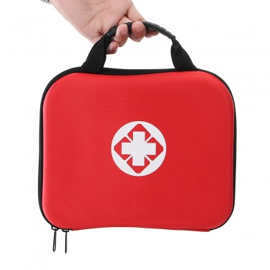 238PCS Red First-Aid Kit 38 Kinds 238 Components Emergency Kit Outdoor Vehicle Emergency Kit EVA Red Kit