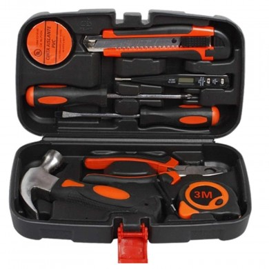 9Pcs Household Combination Kit Gift Set Hardware Toolbox Wide Application Hand Tool General Household Tools Kit