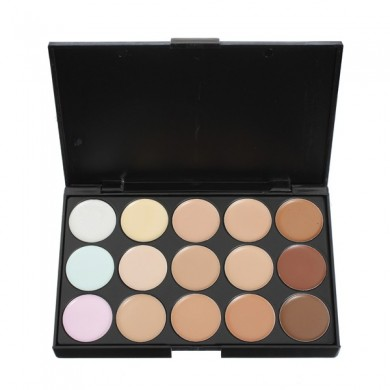 15 Colors Flawless Makeup Concealer Foundation Palette Set