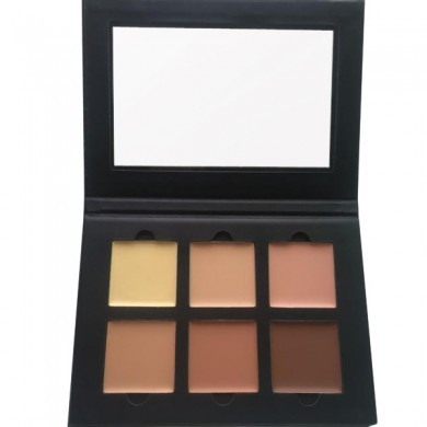 Face Contour Cream Kit Highlight Concealer Palette 6 Colors Makeup Bronzer Shade