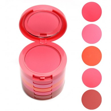 KIMUSE Music Flower 5 Colors Makeup Blush  Makeup Face Blusher Powder Palette Cosmetics