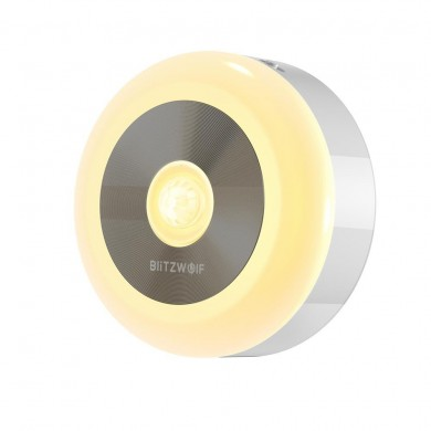 BlitzWolf® BW-LT15 LED Motion & PIR Infrared Sensor Night Light 3000K Color Temperature 120° Lighting Angle Battery Operated Nig