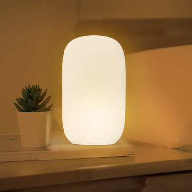 Qualitell ZS2003 USB Charging Silicone LED Night Light Orange Red Sleeping Lamp Reading Light Smart Timing Shutdown From Xiaomi