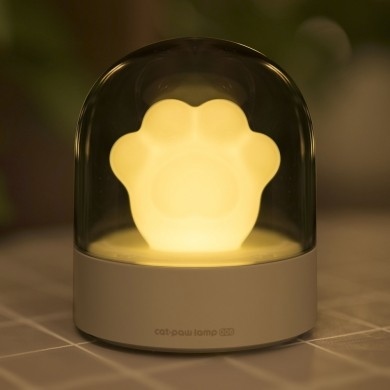 3Life 006 Creative Cat Paw Musical Night Light USB Charging LED Night Light Built In Music Player Controle Remoto Quarto de Xiao