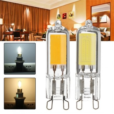 G9 3W COB 260LM Pure White Warm White Glass LED Lâmpada AC110V AC220V