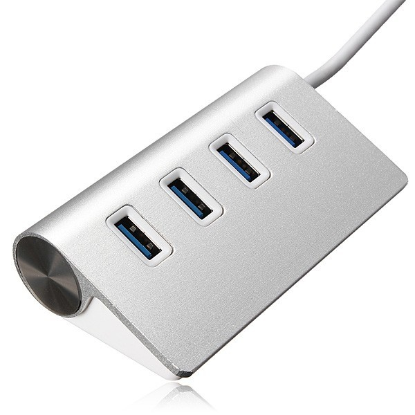 5Gbps Hi-Speed Aluminum USB 3.0 4-Port Splitter Hub Adapter with Cable
