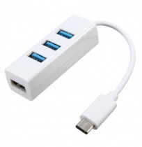 USB 3.1 Type C для 4-портового адаптера USB 2.0 Hub High Speed