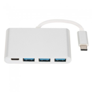 USB 3.1 Type C To 3-Port USB 3.0 Hub With Reverse Charge Function