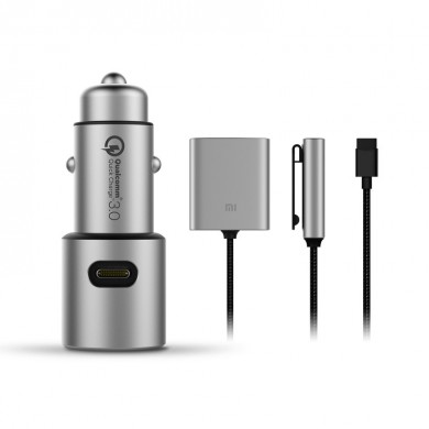 Original Xiaomi Quick Car Charger Edition with Expansion Accessory HUB USB-A + USB-C Product Set for iPhone 11 Pro XR for Samsun